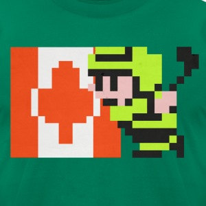 NES Ice Hockey - Canada Side-by-Side - Men's T-Shirt by American Apparel