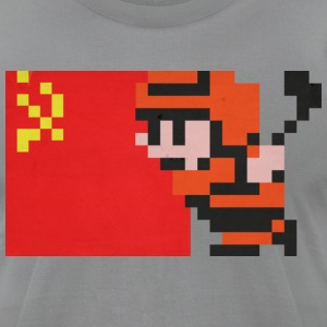 NES Ice Hockey - USSR Side-by-Side - Men's T-Shirt by American Apparel