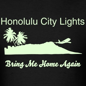 Honolulu City Lights (Glow In Dark Men's T-Shirt) - Men's T-Shirt