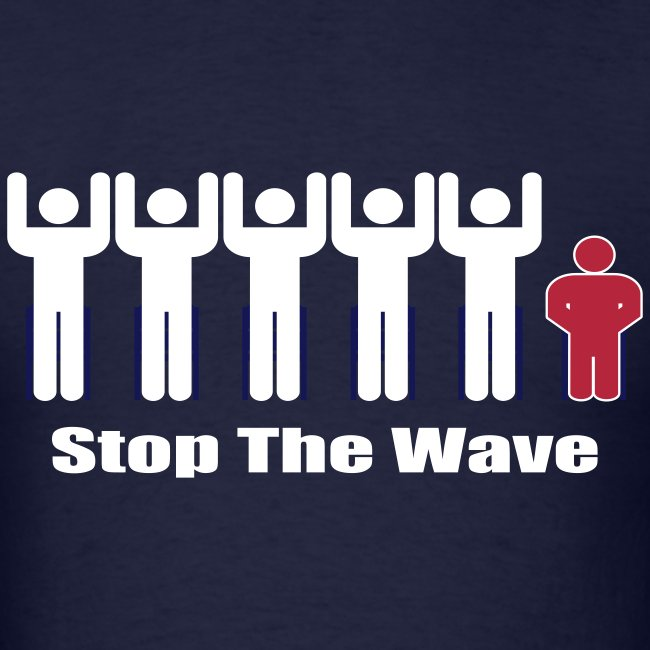 Men's Navy/White/Red Stop The Wave Logo T-Shirt