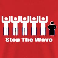 Design ~ Men's Red/White/Black Stop The Wave Logo T-Shirt