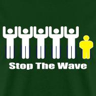 Design ~ Men's Green/White/Yellow Stop The Wave Logo T-Shirt