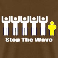 Design ~ Men's Brown/White/Yellow Stop The Wave Logo T-Shirt