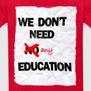 pink floyd no education shirt children - Kids' T-Shirt