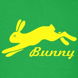 bunny rabbit hare puss easy prey ears easter cute  T-Shirts - Men's T-Shirt
