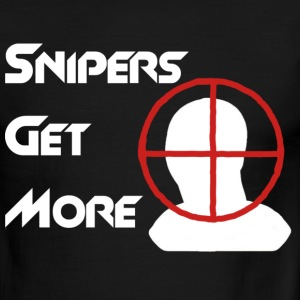 Snipers Get More Head T-Shirts - Men's Ringer T-Shirt