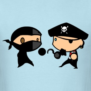 pirate_vs_ninja duel T-Shirts - Men's T-Shirt