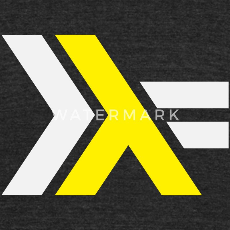 Haskell Logo on Black Shirt - Unisex Tri-Blend T-Shirt by American Apparel