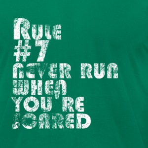 Rule # 7: Never Run When You're Scared | Robot Plu - Men's T-Shirt by American Apparel