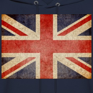 Faded UK Flag Hoodies - Men's Hoodie