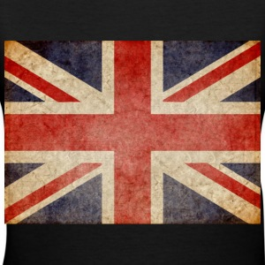 Faded UK Flag Women's T-Shirts - Women's V-Neck T-Shirt