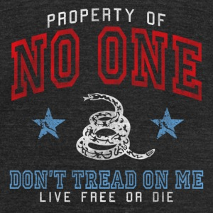 Property of No One - dk T-Shirts - Unisex Tri-Blend T-Shirt by American Apparel