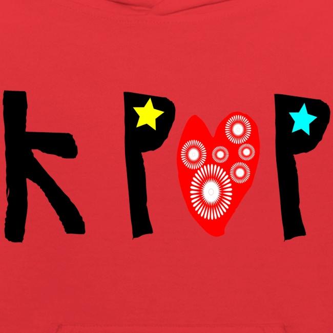 love kpop txt line art Kid's Hooded Sweatshirt | Kids' Hoodie