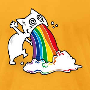 catrainbowvomit T-Shirts - Men's T-Shirt by American Apparel
