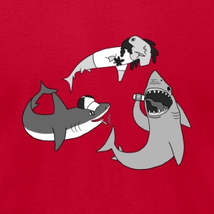 Party Sharks T-Shirts - Men's T-Shirt by American Apparel