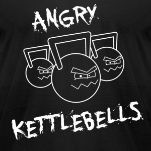 Men's Angry Kettlebells T-Shirt - Men's T-Shirt by American Apparel