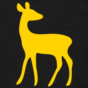 deer fawn elk moose stag game wild animal timid bambi forest T-Shirts - Men's T-Shirt