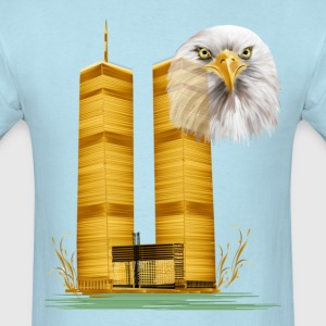 Twin Towers in Gold and Eagle - Men's T-Shirt