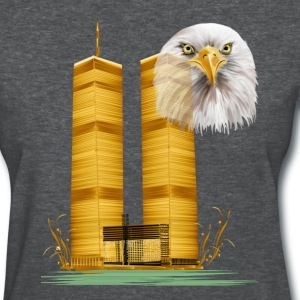 Twin Towers in Gold and Eagle - Women's T-Shirt