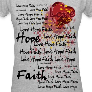 Love Hope  Faith - Women's V-Neck T-Shirt