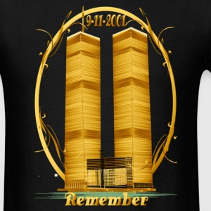Twin Towers in Gold - Men's T-Shirt