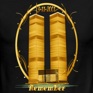 Twin Towers in Gold - Men's Ringer T-Shirt