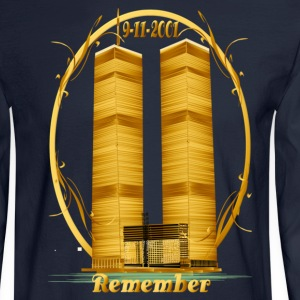 Twin Towers in Gold - Men's Long Sleeve T-Shirt
