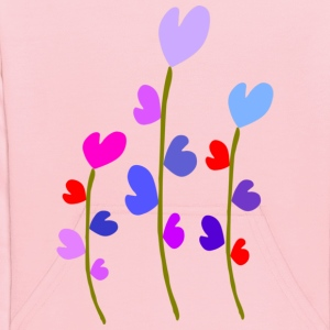 colorful hearts flowers nature vector art - Kids' Hoodie