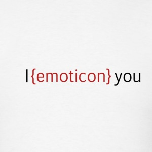 I emoticon you T-Shirts - Men's T-Shirt