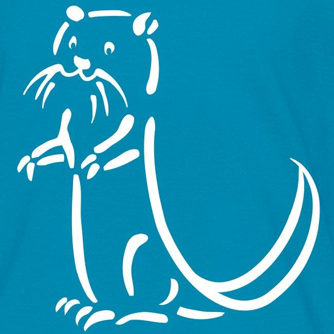 t-shirt otter beaver sea otter fish lake fishing river animal t-shirt