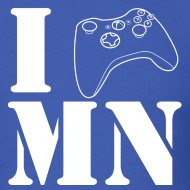 Design ~ *CUSTOMIZABLE* I Game [Insert Your State Here] Men's T-Shirt White Text