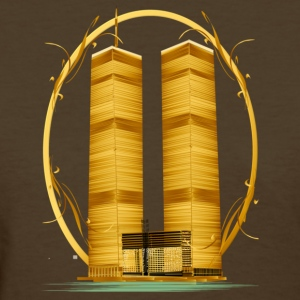 Twin Towers in Gold - Women's T-Shirt