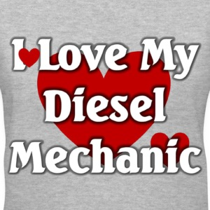 I love my Diesel  mechanic - Women's V-Neck T-Shirt