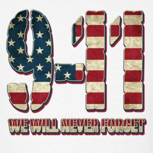 9-11 USA Flag - Men's T-Shirt
