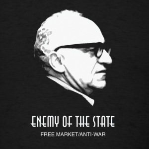 Murray Rothbard Enemy of the State Free Market - Men's T-Shirt