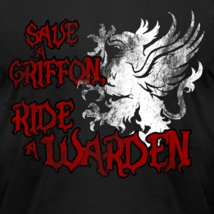 Save a Griffon, Ride a Warden T-Shirts - Men's T-Shirt by American Apparel