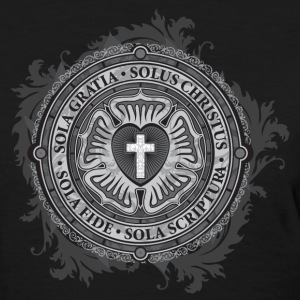 Luther Rose - Gothic Black Women's T-Shirts - Women's T-Shirt