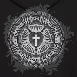 Luther Rose Cross - Men's Hoodie - Design on Back! - Men's Hoodie
