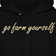 Design ~ go farm yourself™ - Women's Hoodie Two Shoes