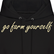 Design ~ go farm yourself™ - Mens Hoodie Two Shoes