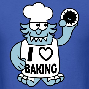 George the Monster Loves Baking T-Shirts - Men's T-Shirt