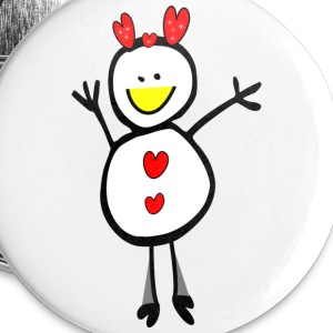 funny smiley xmas deer vector art small button - Small Buttons