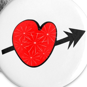 Red shiny heart arrow vecgtor art small button - Small Buttons