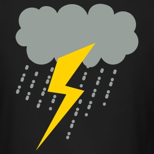 raincloud lightning strike rain storm Long Sleeve Shirts - Men's Long Sleeve T-Shirt by Next Level