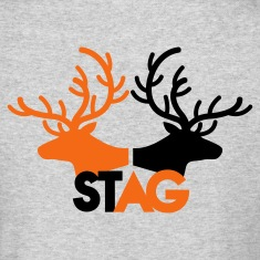 STAG double stag two reindeer  Long Sleeve Shirts