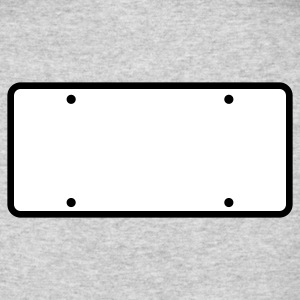plain licence plate WRITE YOUR OWN Long Sleeve Shirts - Men's Long Sleeve T-Shirt by Next Level