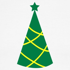 Christmas tree pointy with star T-Shirts - Men's Ringer T-Shirt
