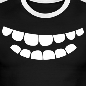 creepy smile teeth T-Shirts - Men's Ringer T-Shirt