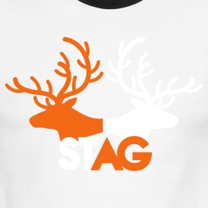 STAG double stag two reindeer  T-Shirts - Men's Ringer T-Shirt