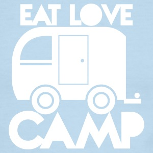 caravan camper EAT LOVE CAMP T-Shirts - Men's Ringer T-Shirt